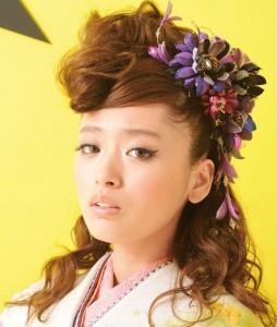 rize2 254x300 【2014成人式】女子のモヒカン風ヘアースタイルで和風美人に!